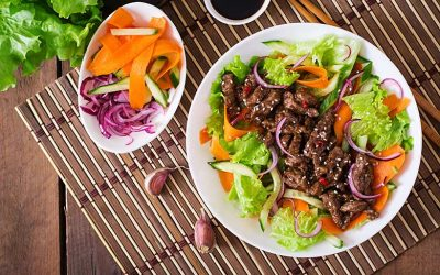 Shredded Brisket Salad with Chipotle Dressing